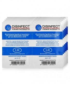 <p>Disinfettante ad azione battericida e virucida, 10 salviette LR WONDER COMPANY