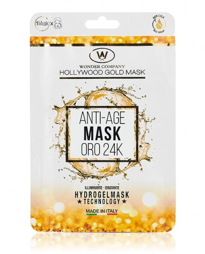 Hollywood Gold Mask <p>Hydrogel face mask in micropierced fabric, 1pc WONDER COMPANY