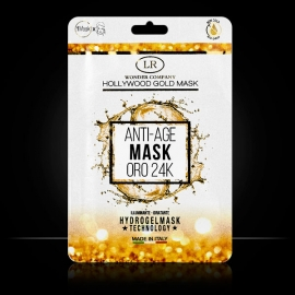 Hollywood Gold Mask maschera oro Hydrogel LR Wonder Company, Oro 24kt
