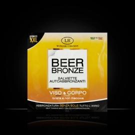 Beer Bronze salviette autoabbronzanti alla birra LR Wonder bustina x3, creme autoabbronzanti