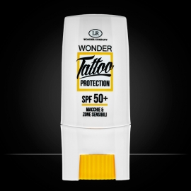 Wonder Tattoo Protection, protezione solare per tatuaggi LR Wonder Company, protezione solare tatuaggi