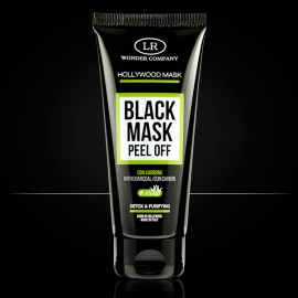 Hollywood Black Mask maschera viso nera al carbone e aloe vera peel off LR Wonder Company,