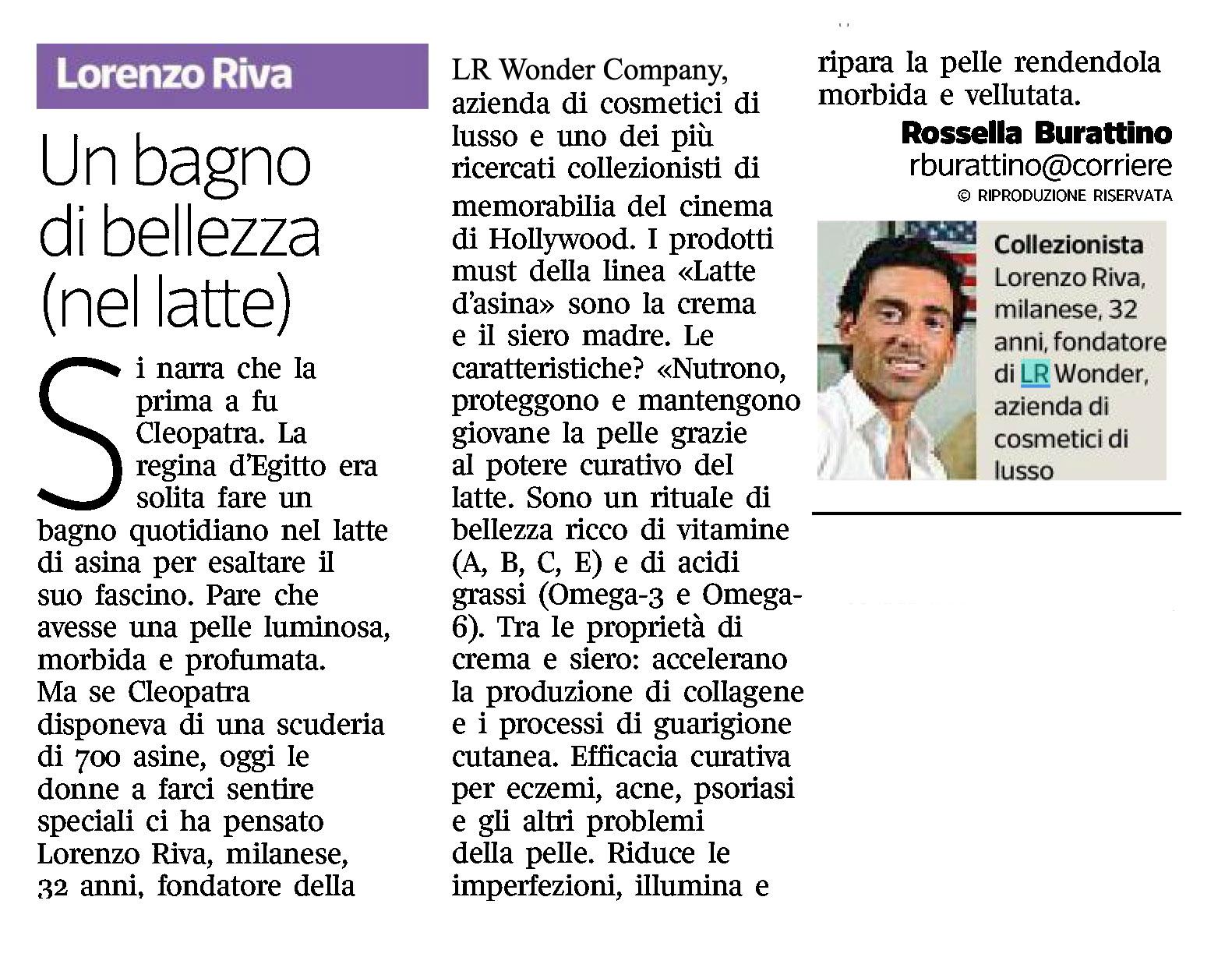 Latte di Asina su Corriere BEAUTY marzo 2021