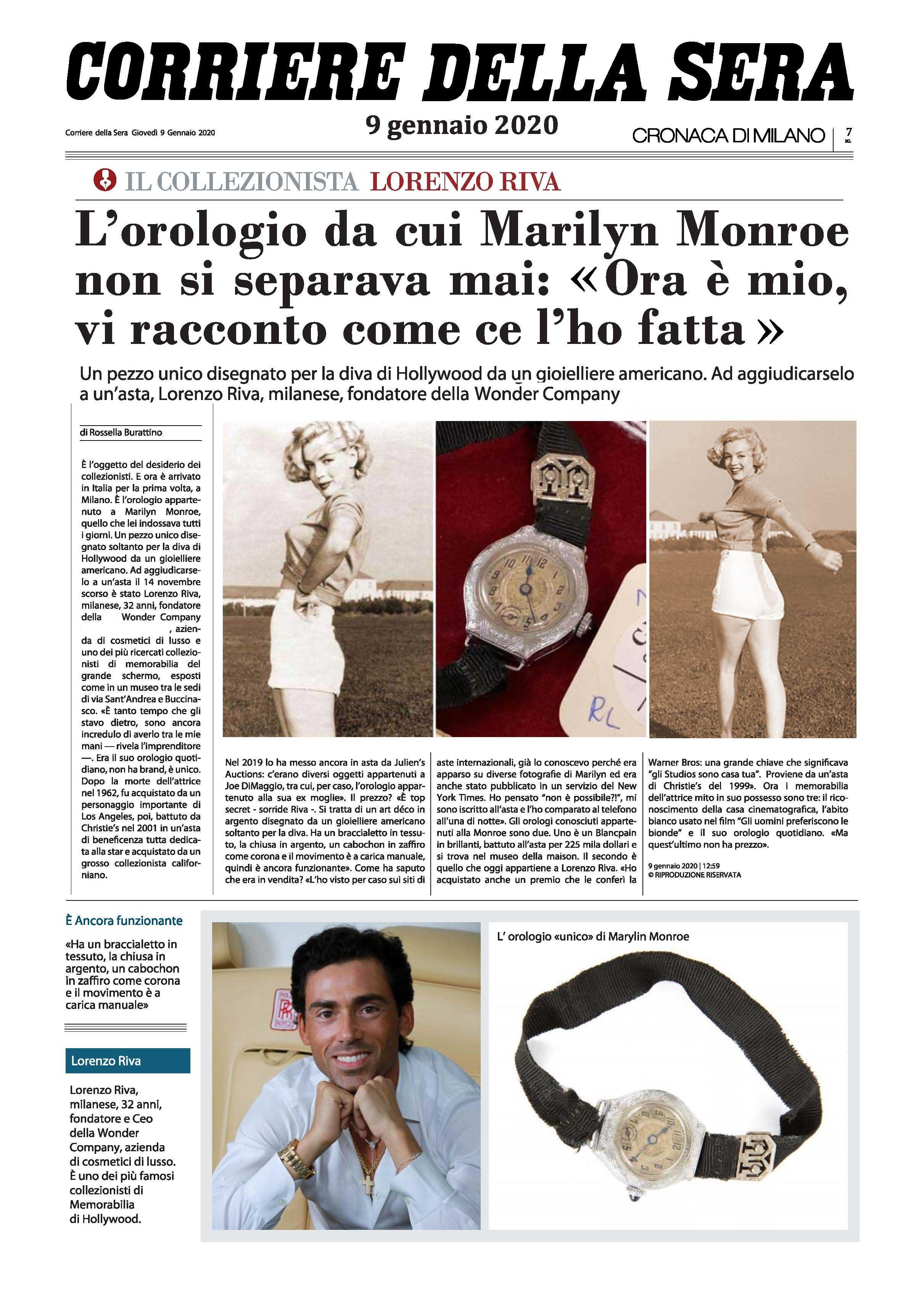 Lorenzo Riva LR Wonder collezionista orologio Marilyn Monroe