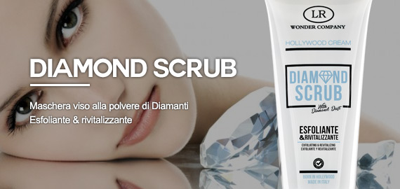 Maschera scrub polvere di diamante viso esfoliante rivitalizzante lr wonder company