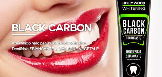 Dentifricio sbiancante al carbone Vegetale nero LR Wonder Company Black Carbon Hollywood Whitening
